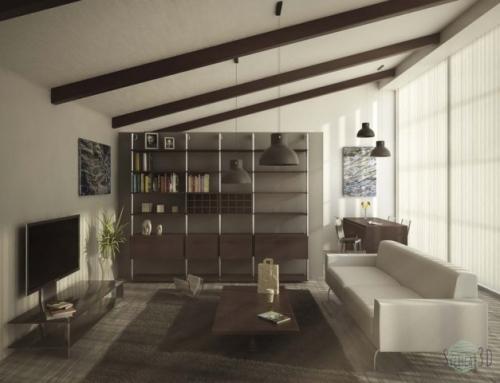 Living room per mini loft