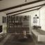 render living room di un loft