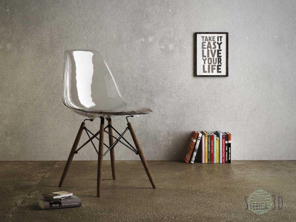 render di una sedia