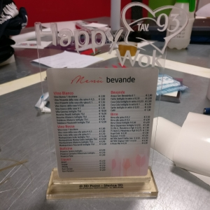 targhe, menu personalizzato, plexiglass. incisioni, taglio laser