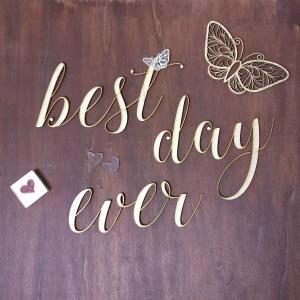 scritte, wedding, taglio laser, legno
