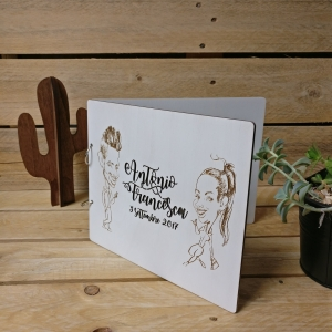 wedding, taglio laser, incisioni, legno