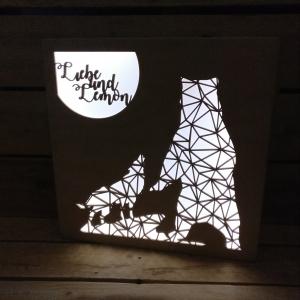 complementi d'arredo 4, lampada, plexiglass, incisioni, taglio laser, legno