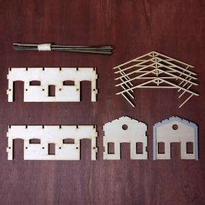 casa2, modellismo, taglio laser, legno