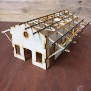 casa, modellismo, taglio laser, legno