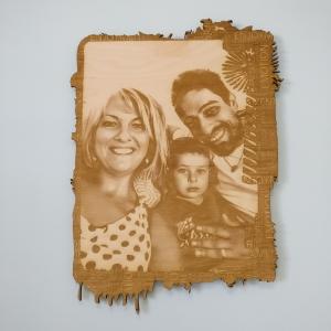 oggettistica 3, idee regalo, legno, incisioni, taglio laser, personalizzazione, foto su legno